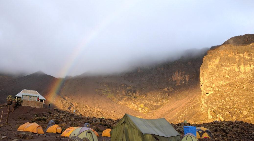 Tanzania Mount Kilimanjaro Hike Barranco Camp Rainbow