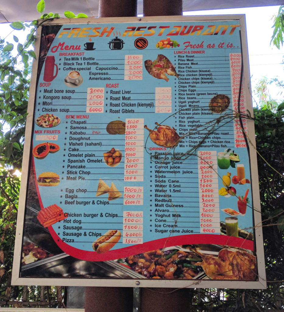 Fun Things To Do in Moshi, Tanzania - Fresh Restaurant Menu