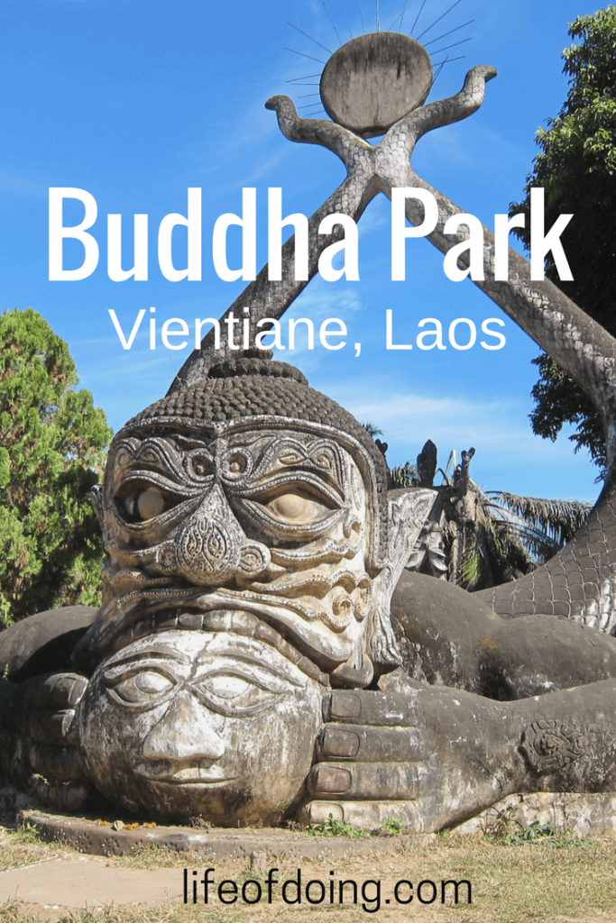 Strange Sculptures at Buddha Park in Vientiane, Laos