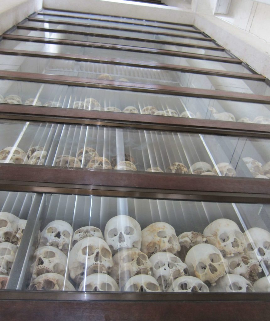 How to Travel to Cambodia and Laos in 2 Weeks - Phnom Penh Killing Fields Skulls
