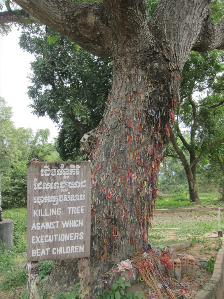 How to Travel to Cambodia and Laos in 2 Weeks - Phnom Penh Killing Fields Tree