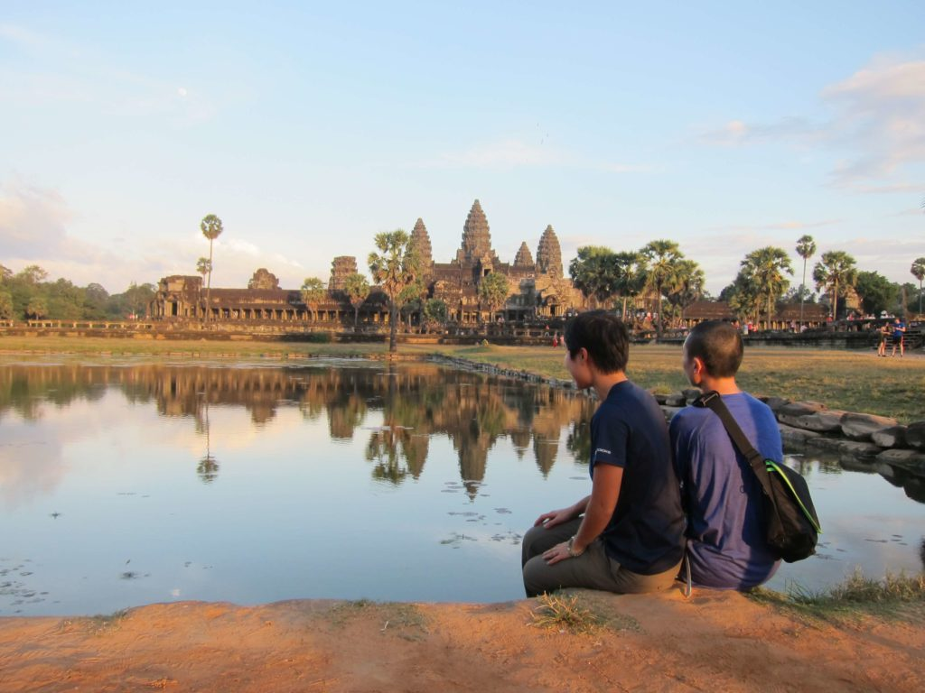How to Travel to Cambodia and Laos in 2 Weeks - Siem Reap, Cambodia Angkor Wat Sunset