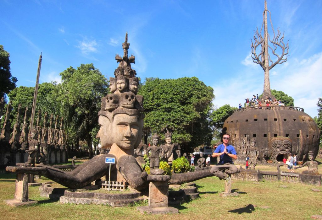 How to Travel to Cambodia and Laos in 2 Weeks - Vientiane, Laos Buddha Park