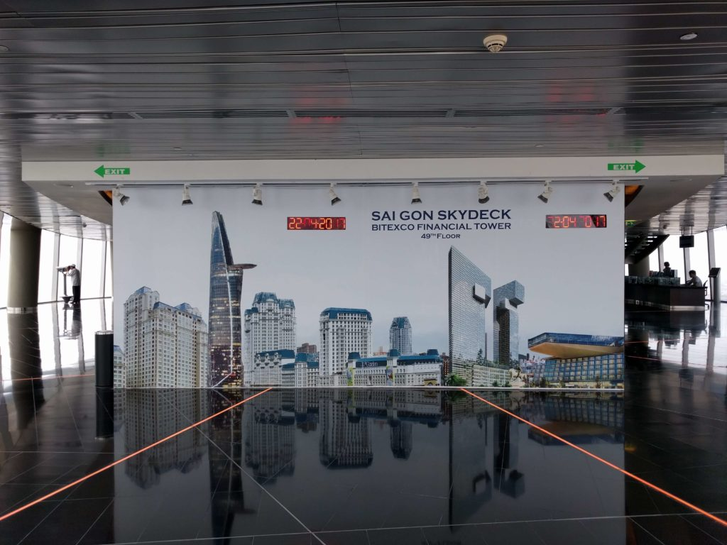 Visiting Saigon Skydeck in Bitexco Financial Tower