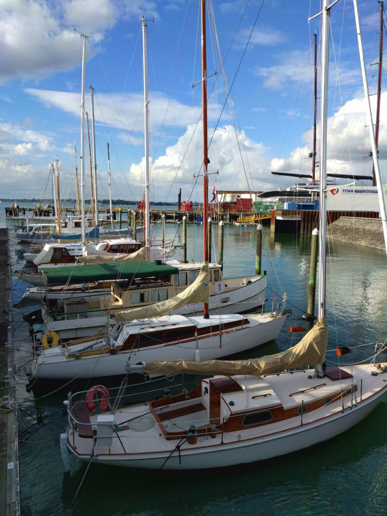 Spending One Beautiful Day in Auckland, New Zealand - Heritage Landing with dozens of yatchs