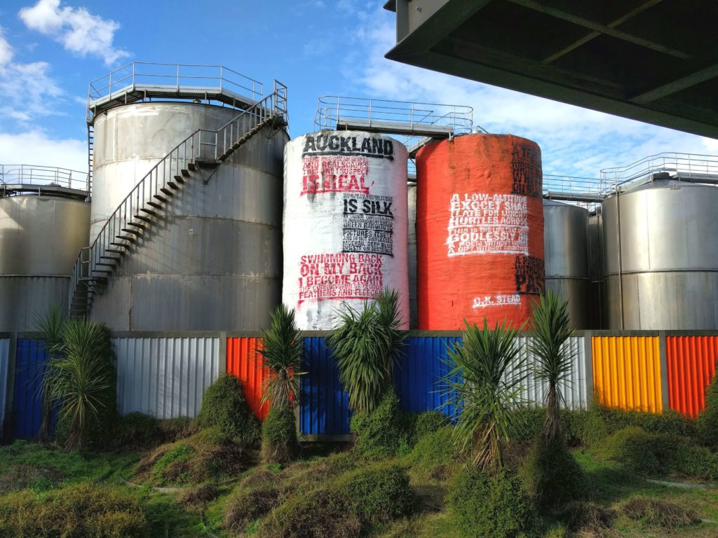 Spending One Beautiful Day in Auckland, New Zealand - Silo Park has colorful silos