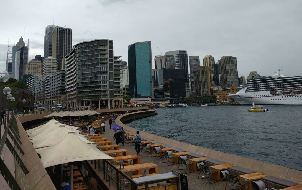 Circular Quay with overlooks the main Sydney area