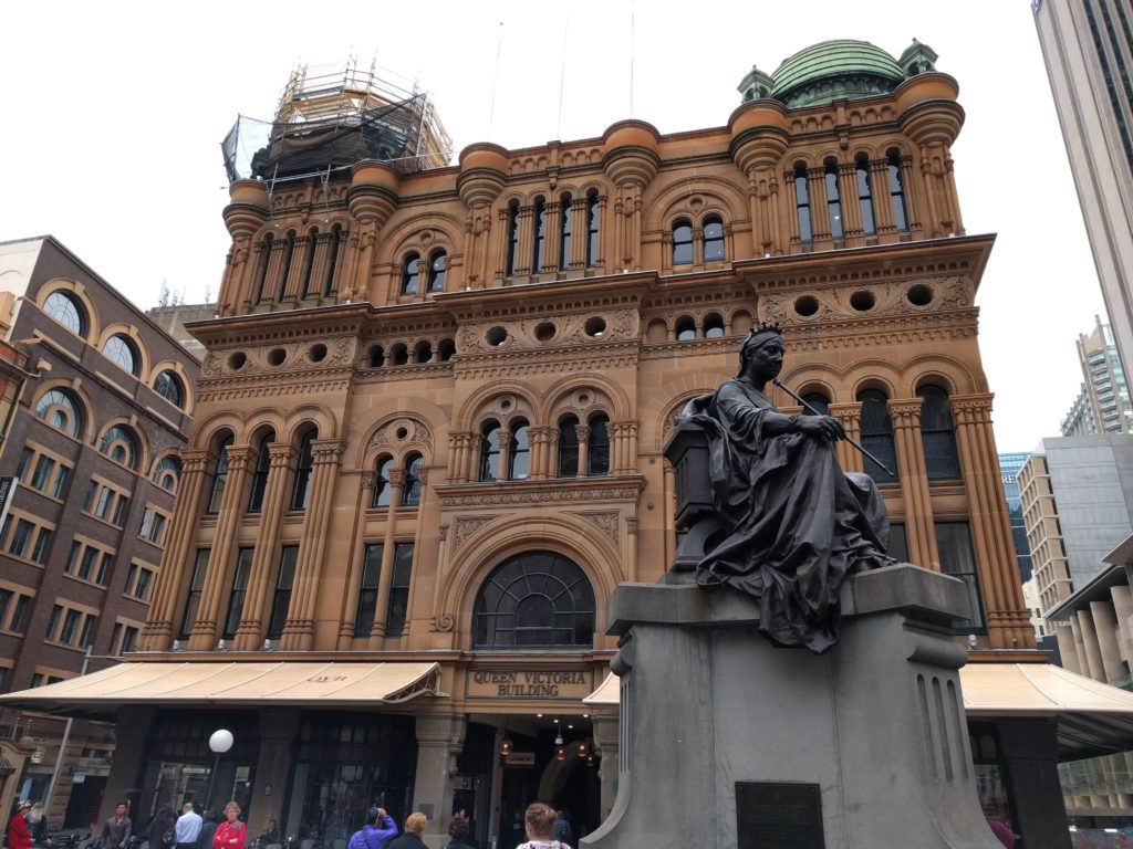 Outside Queen Victoria Building in Sydney, Australia