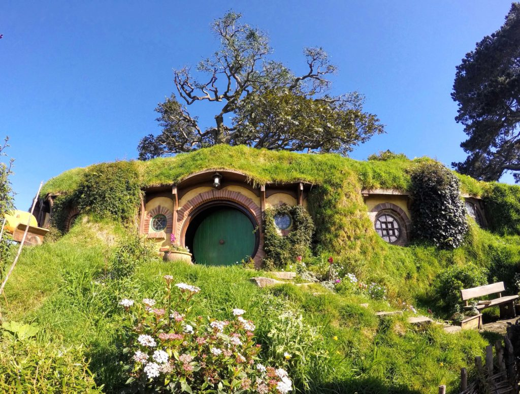 Visit to Hobbiton Movie Set in New Zealand - Bag End