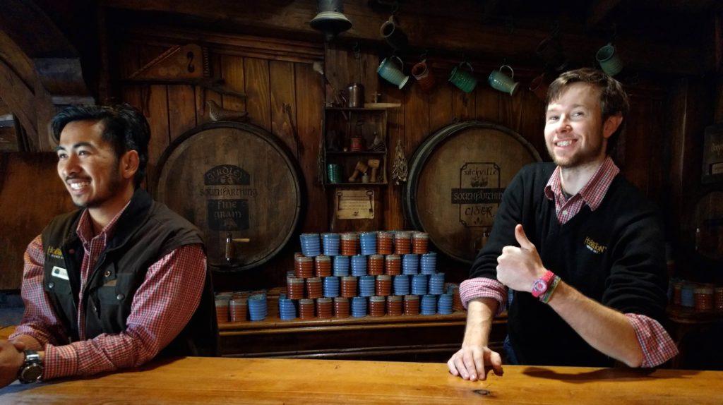 Visit to Hobbiton Movie Set in New Zealand - Green Dragon Inn