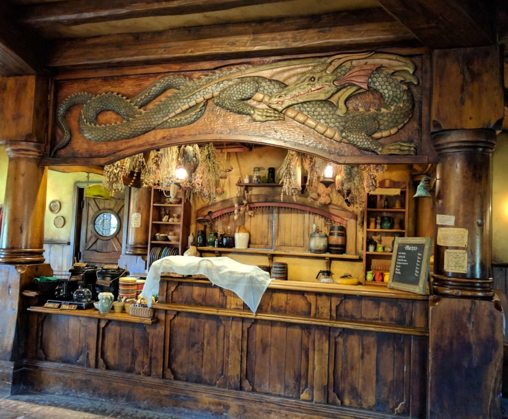 Visit to Hobbiton Movie Set in New Zealand - Green Dragon Inn