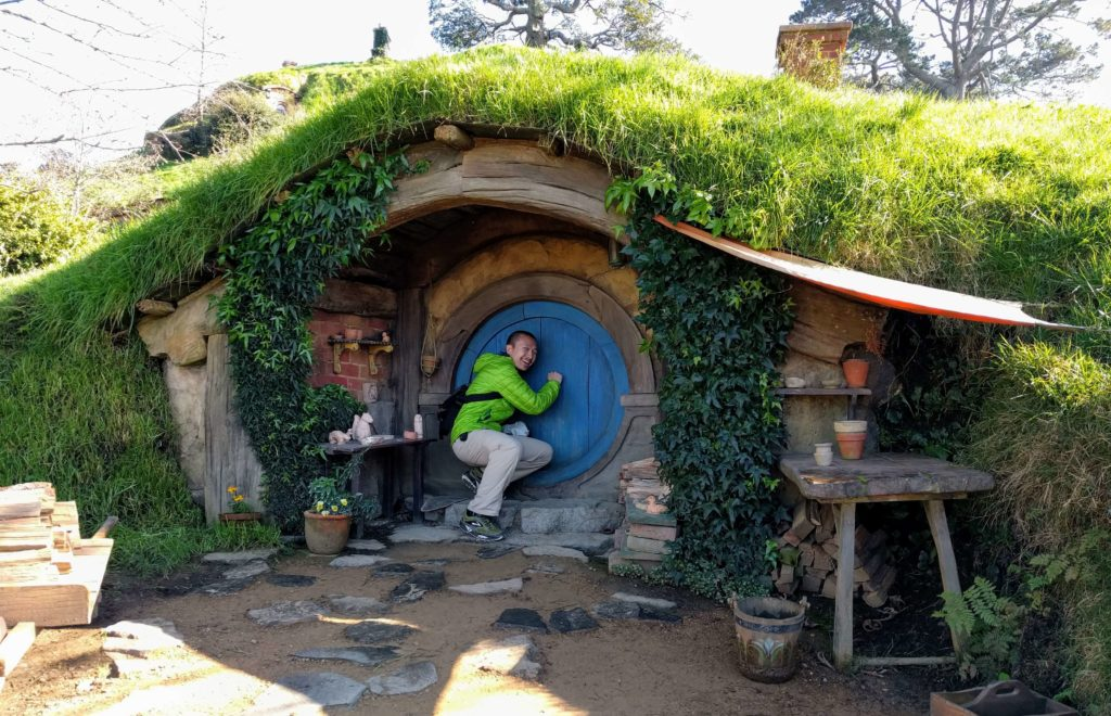 Visit to Hobbiton Movie Set in New Zealand - Hobbit Hole