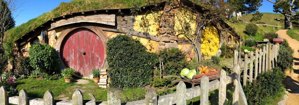 Visit to Hobbiton Movie Set in New Zealand - Sam Gamgee House