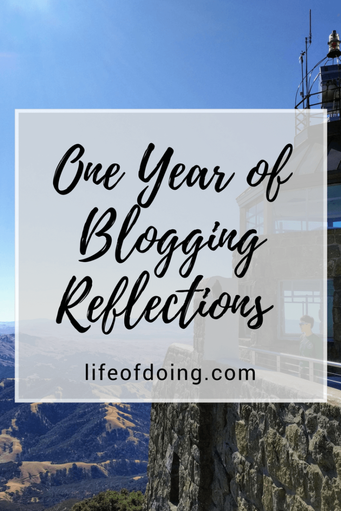 One Year of Blogging Reflections