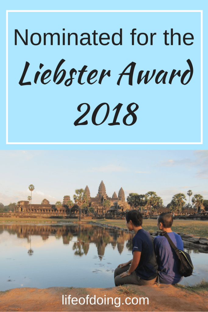Nominated for the Liebster Award 2018