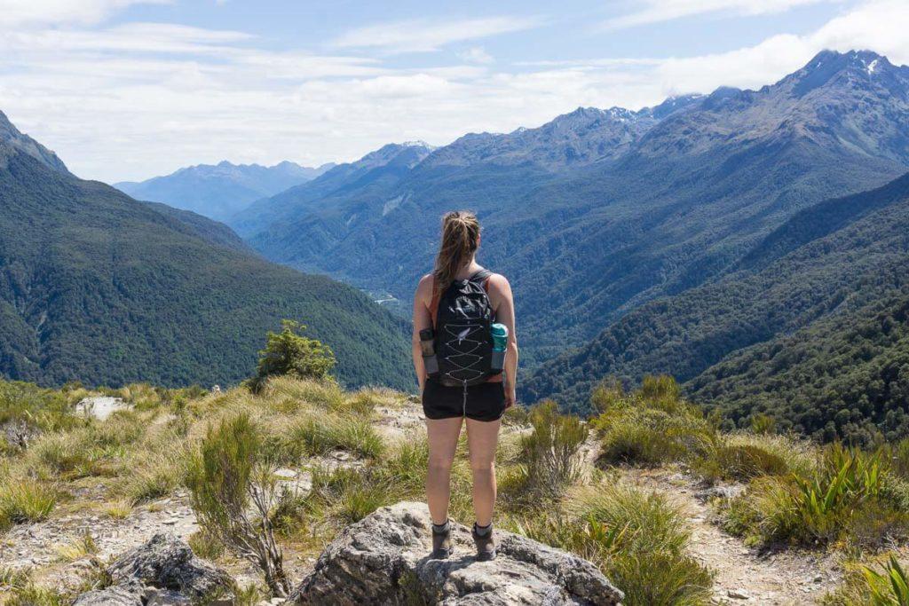 Hiking Key Summit Track in Fiordland National Park/Milford Sound, New Zealand
