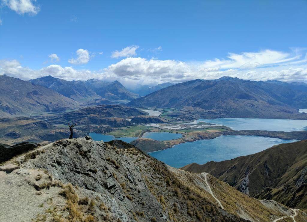 Hiking Roys Peak Track in Wanaka, New Zealand