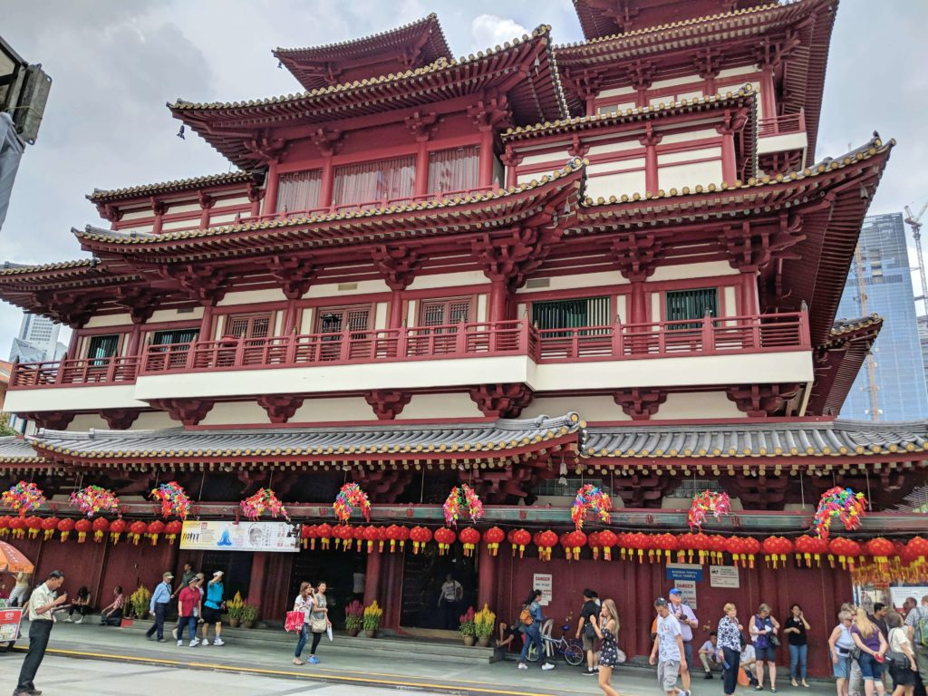 During your Singapore layover, check out Chinatown Buddha Tooth Relic Museum.