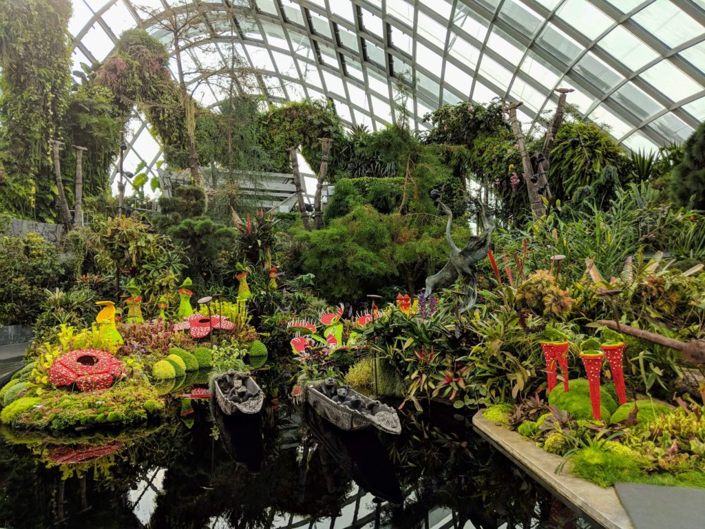 Lego version of carnivorous plants at Gardens By The Bay's Cloud Forest