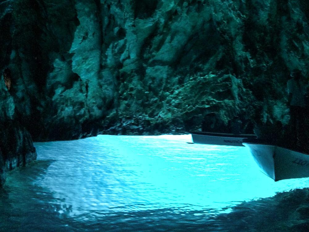 Caves Around The World in Europe: Blue Cave in Bisevo Island, Croatia