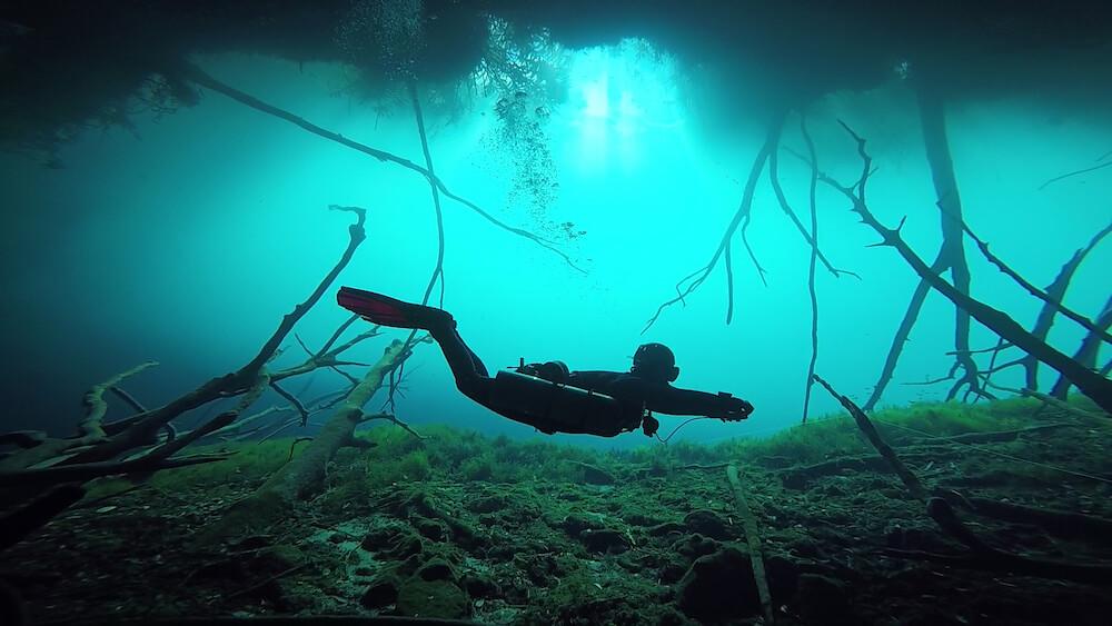 Caves Around The World in North America: Carwash Cenote in Tulum, Mexico