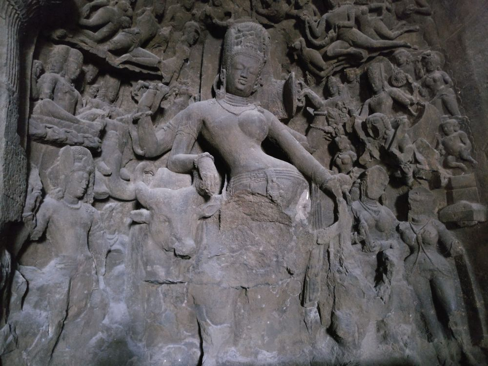 Caves Around the World in Asia: Elephanta Cave in Elephanta Island, India