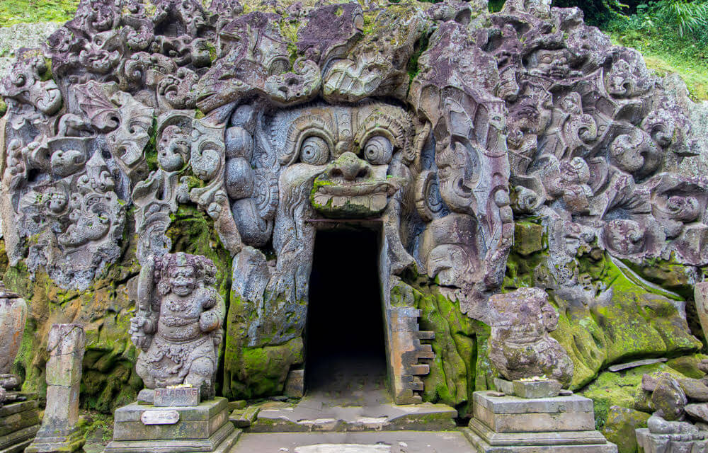Caves Around The World in Asia: Goa Gajah Cave in Bali, Indonesia