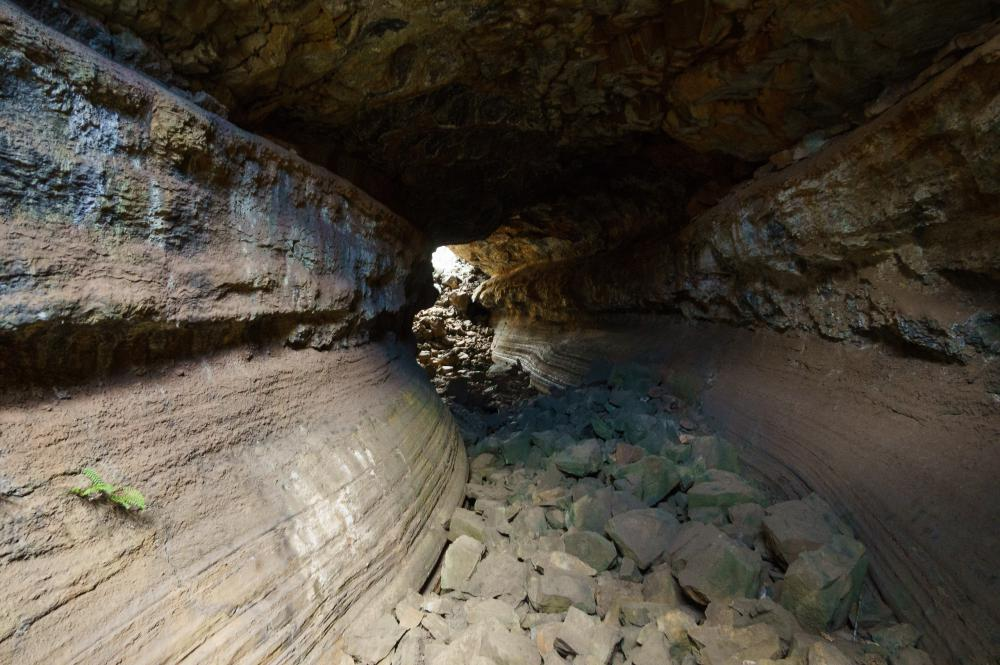 Caves Around The World in South America: Lava Tunnels in Galapagos Islands, Ecuador