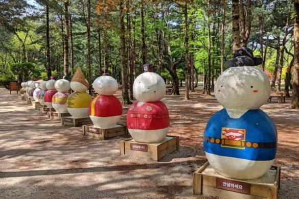 International snowmen at Nami Island, Gapyeong, South Korea