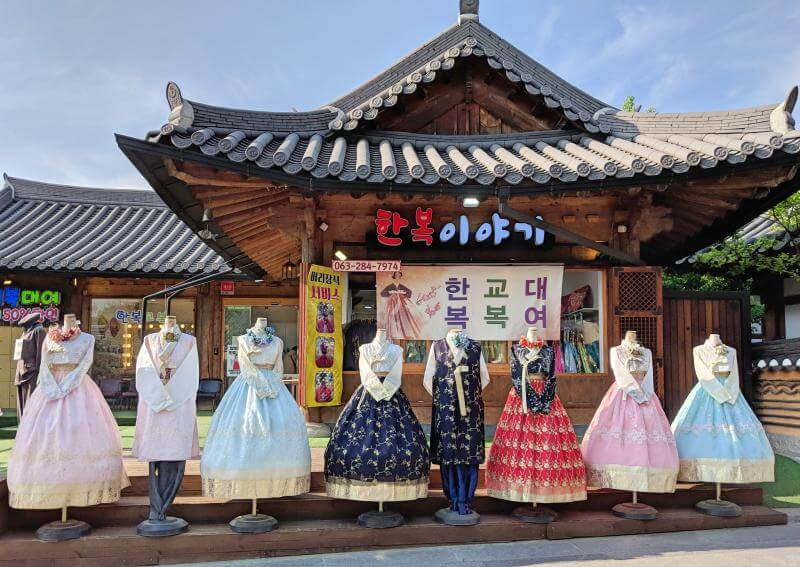 Jeonju Hanok Village Hanbok Rental in Jeonju, South Korea