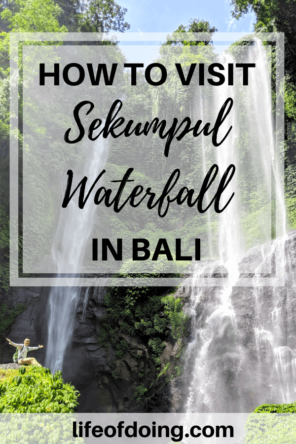 Sekumpul Waterfall is a must vist in Bali, Indonesia. It's stunning! Check out this guide on how to get to the waterfall, admission cost, tips to avoid the tourist traps, and things to bring. #SekumpulWaterfall #Sekumpul #Bali #BaliWaterfall #Indonesia