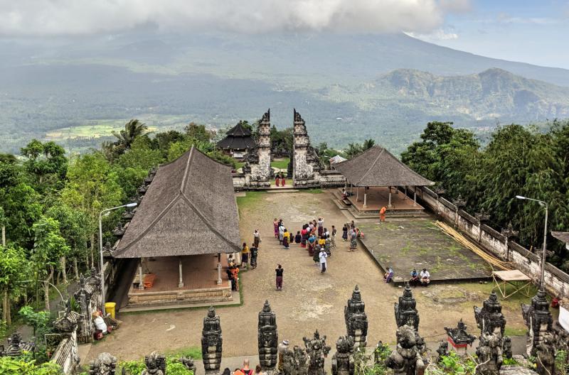 "Pura Lempuyang's ""Gateway to Heaven"" view"