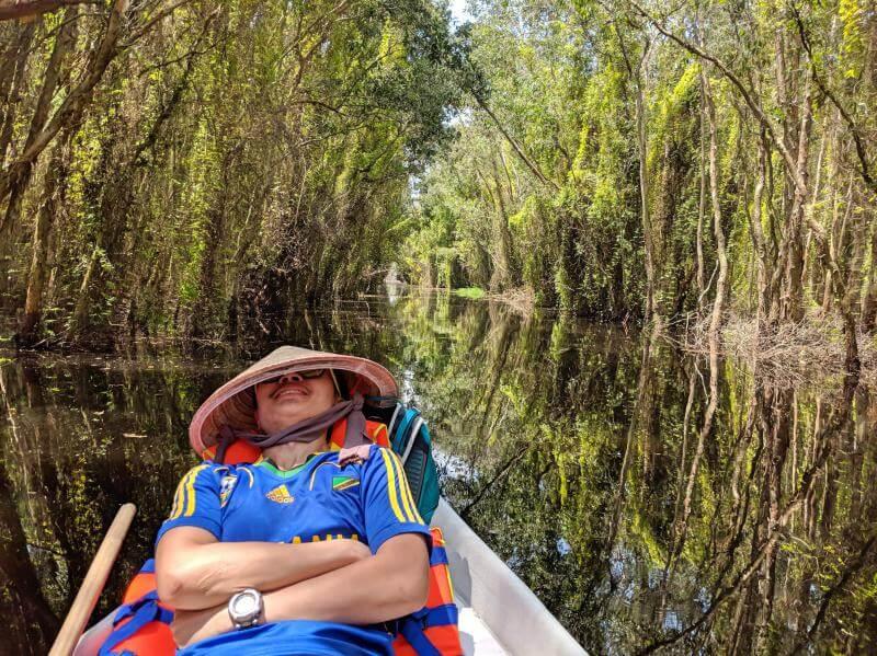 Tan Lap Floating Village, Long An, Vietnam Boat Ride through the Melaleuca Forest