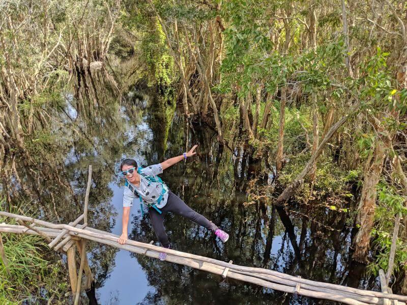 Tan Lap Floating Village, Long An, Vietnam Balancing Bridge