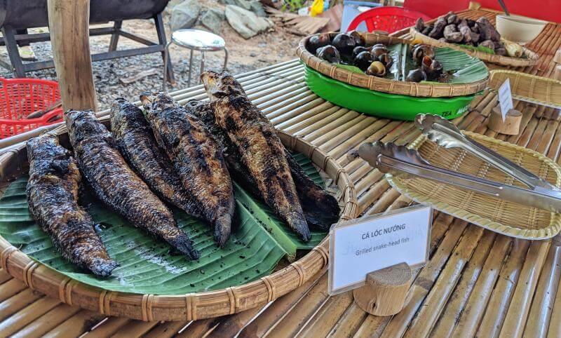 Tan Lap Floating Village, Long An, Vietnam Lunch Buffet