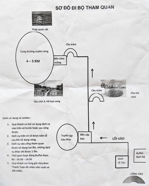 Map of Tan Lap Village Floating Village