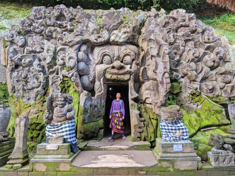 Justin Huynh, Life Of Doing, is at Goa Gajah Elephant Caves in Ubud, Bali, Indonesia