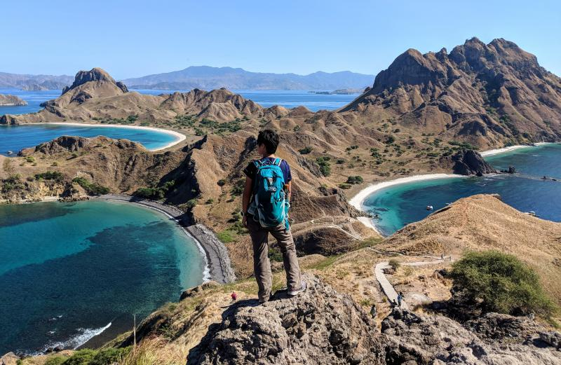 Komodo National Park's Padar Island summit to see the beautiful waters