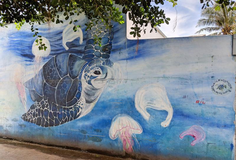 Street art on An Binh Island off of Ly Son Island, Vietnam