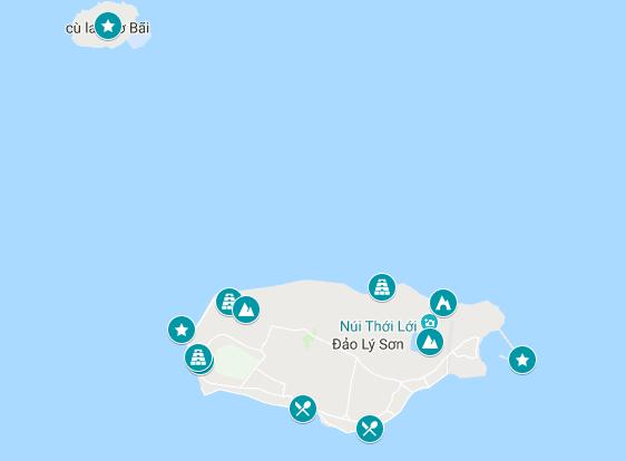 Ly Son Island Vietnam map