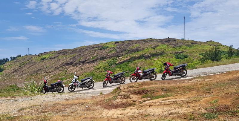 Motorbikes on Ly Son Island, Vietnam