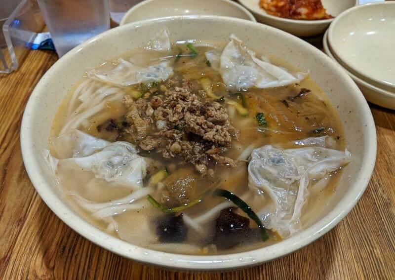 Myeongdong, Seoul, South Korea - Myeongdong Kyoja which serves kalguksu, knife-cut noodles
