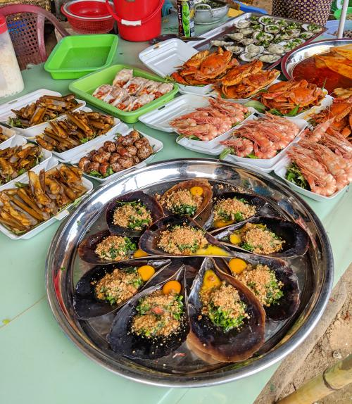 Can Gio Island, Vietnam - Seafood at the Can Gio Beach