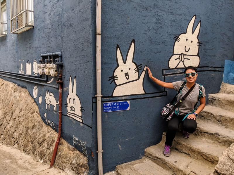 Seoul in 5 days: Ihwa Mural Village has bunny street art