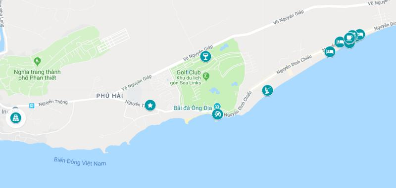 Things to do in Mui Ne, Vietnam: map of Mui Ne