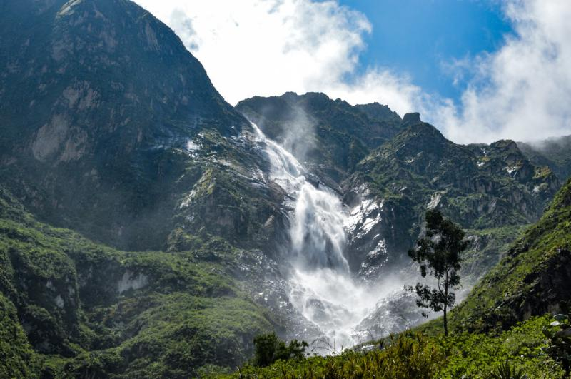 Fure and Huaruro Waterfalls in Colca Canyon, Peru