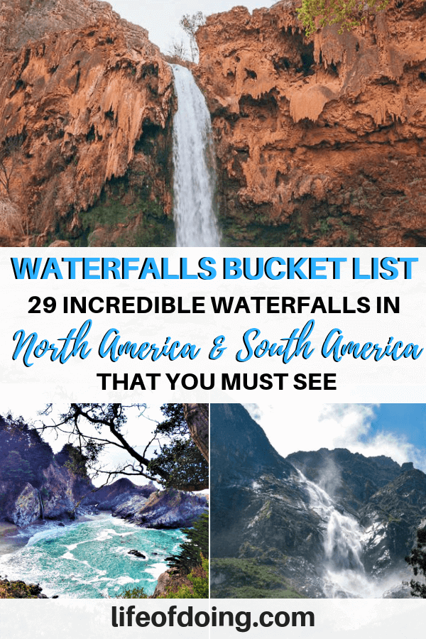 Best waterfalls in in North America and South America, including Caribbean and Central America