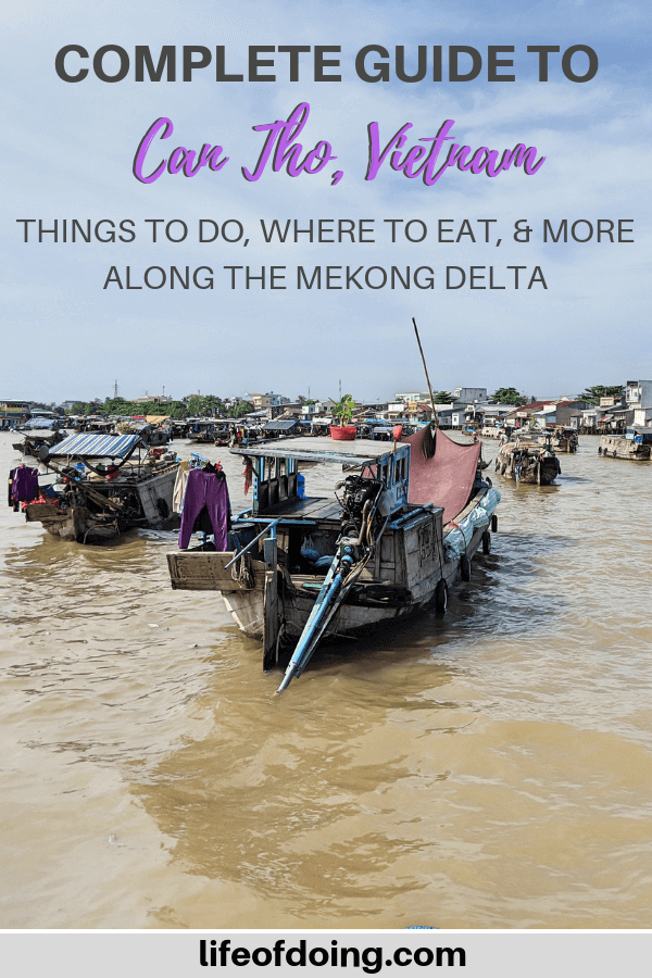 Guide to Visiting Con Tho, Vietnam which includes the Cai Rang Floating Market along the Mekong Delta