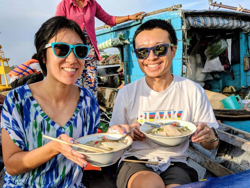 Can Tho, Vietnam: Eating hu tieu noodles at the Cai Rang Floating Market and along the Mekong Delta