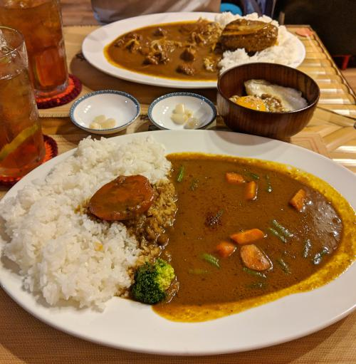 Vegetarian curry at Curry Shika in Ho Chi Minh City, Vietnam